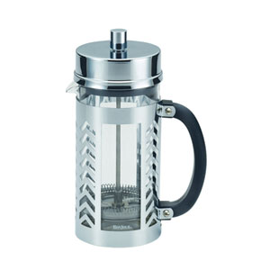 Coffee, Chevron, 33.8-Ounce,, Glass and Stainless Steel French Press