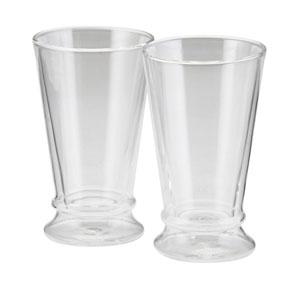 Coffee, 2-Piece Set, 12-Ounce, Insulated Borosilicate Glass Latte Glasses
