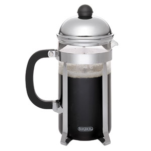 Coffee, Bijoux, 12.5-Ounce,, Stainless Steel French Press with Glass Carafe