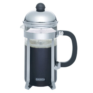Coffee, Monet, 33.5-Ounce,, Stainless Steel French Press with Glass Carafee