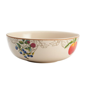 Orchard Harvest Stoneware 9-Inch Serving Bowl