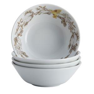 Fruitful Nectar Porcelain 4-Piece Fruit Bowl Set