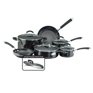 Nonstick Black Aluminum 12-Piece Cookware Set