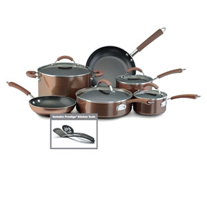 Bronze Nonstick Aluminum 12-Piece Cookware Set