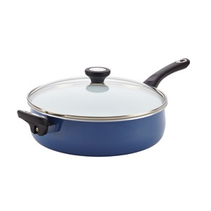 Nonstick Ceramic Blue 5-Quart Covered Jumbo Cooker