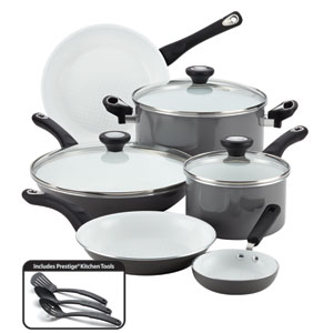 Nonstick Ceramic  Gray 12-Piece  Set