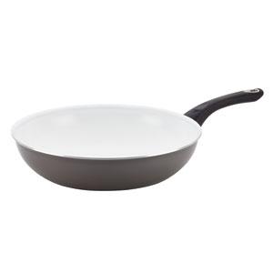 Nonstick Ceramic  Gray 12.5-Inch Deep Skillet
