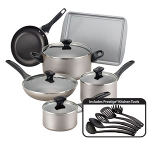 Nonstick Champagne 15-Piece Cookware Set