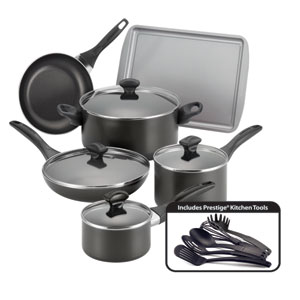 Nonstick Black 15-Piece Cookware Set