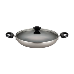 Nonstick Aluminum Champagne 11-Inch Covered Everything Pan