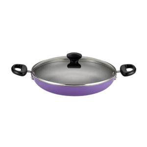 Nonstick Purple Aluminum 11-Inch Covered Everything Pan