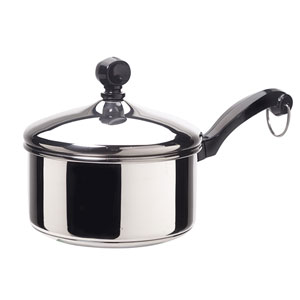 Classic Series Stainless Steel 1-Quart Covered Saucepan