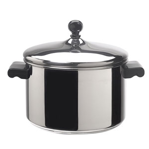 Classic Stainless Steel 4-Quart Covered Saucepot