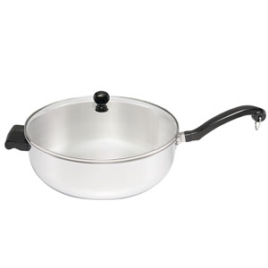 Classic Series Stainless Steel Jumbo 6-Quart Covered Chefs Pan