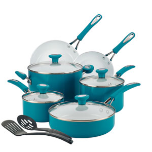 Ceramic CXi, Blue Nonstick Aluminum 12-Piece Cookware Set