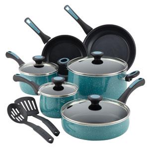 Aluminum Nonstick Blue 12-Piece Cookware Set
