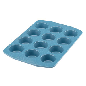 Nonstick Bakeware Blue 12-Cup Muffin and Cupcake Pan