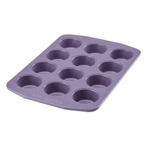 Nonstick Bakeware Lavender 12 Cup Muffin and Cupcake Pan