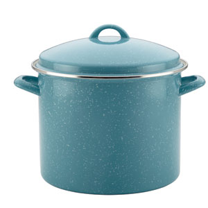 12-Quart Blue Covered Stockpot