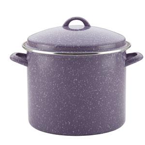 Enamel on Steel Covered Lavender 12-Quart Stockpot