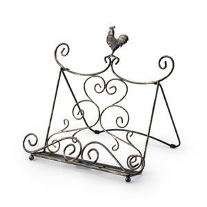 Standing Rooster Metal Cookbook Stand