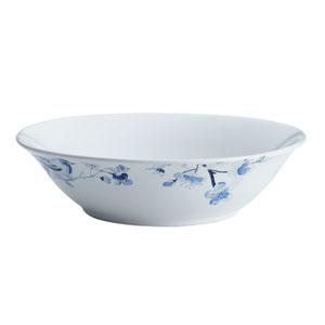 Indigo Blossom 10-Inch Stoneware Round Serving Bowl