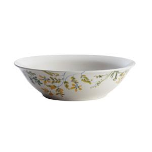 Garden Rooster 10-Inch Stoneware Round Serving Bowl