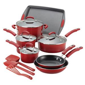 Red Porcelain 14-Piece Set