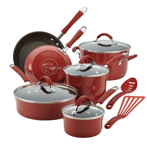 Cucina, Red Porcelain 12-Piece Set