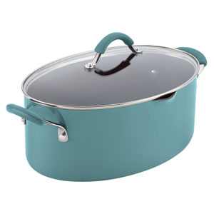 Cucina, Blue Porcelain 8-Quart Pasta Pot