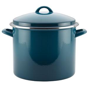 Blue 12-Quart Covered Stockpot