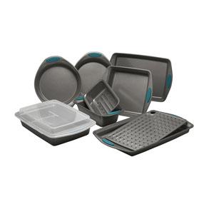 Marine Blue Yum-o Nonstick Ten-Piece Oven Lovin Bakeware Set