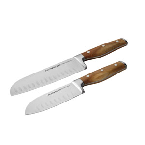 Cucina, 2-Piece Japanese Stainless Steel Santoku Knife Set