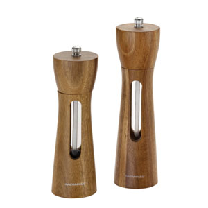 Acacia Salt and Pepper Grinder 2-Piece Set