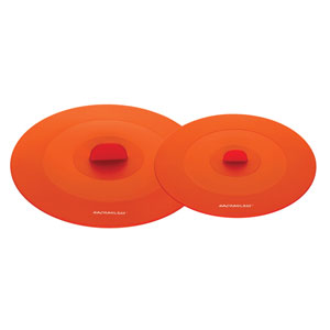 Orange 2-Piece Suction Lid Set