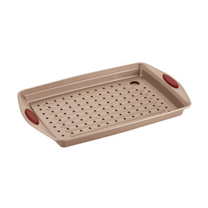 Cucina, Brown and Red Crisper Pan 2-Piece Set