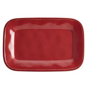 Cucina, Red 8-Inch x 12-Inch Rectangular Platter