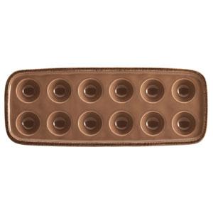 Cucina, Brown 14.25-Inch x 5.5-Inch Egg Tray