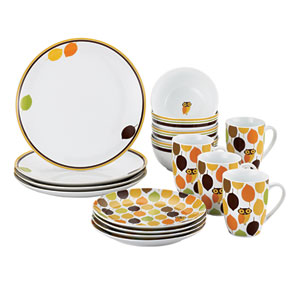 Little Hoot 16-Piece Porcelain Set