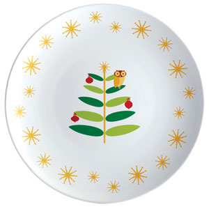 Holiday Hoot 14-Inch Round Platter