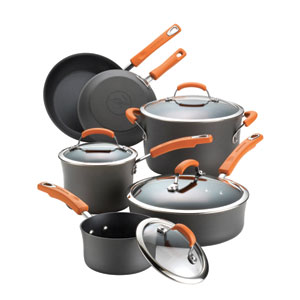 Gray and Orange 10-Piece Set