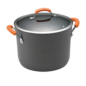 Gray and Orange 10-Quart Covered Stockpot