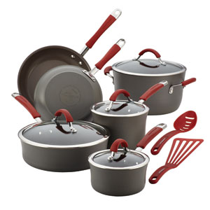Cucina, Gray and Red 12-Piece Set