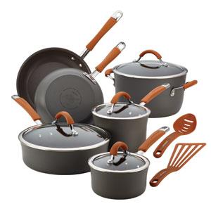 Cucina, Gray and Orange 12-Piece Set