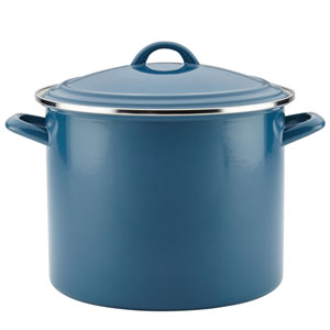 Home Collection Twilight Teal 12-Quart Enamel on Steel Stockpot