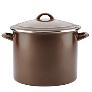 Home Collection Brown Sugar 12-Quart Enamel on Steel Stockpot
