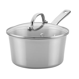 Home Collection Stainless Steel 3-Quart Covered Saucepan