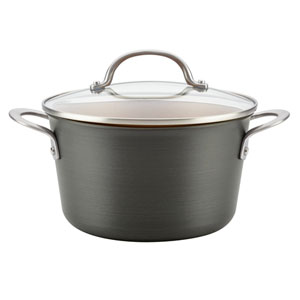 Home Collection Hard Anodized 4.5-Quart Aluminum Covered Saucepot