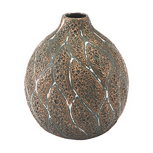 Lava Small Vase Brown and Green