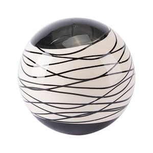 Stripes Large Orb Black and Ivory